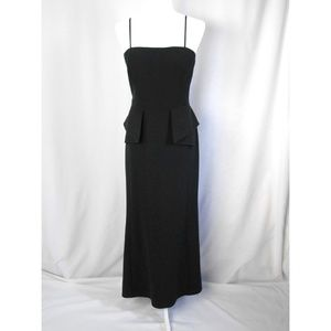 Adian Mattox Black Tube Top Dress